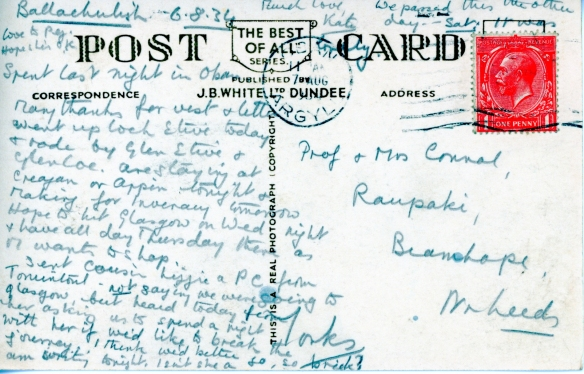 Postcard from Connal Kit 1934